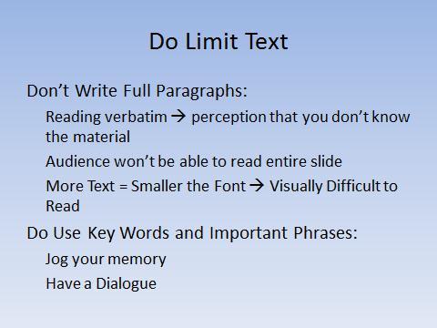 Do Limit Text