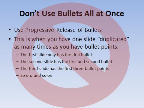 Don't Bullet