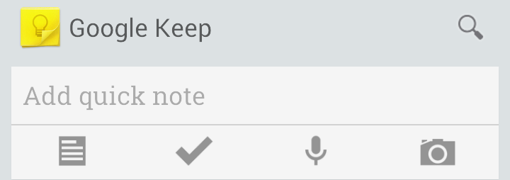 Google Keep Input Options