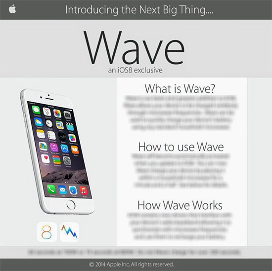 iOS Wave hoax advertisement