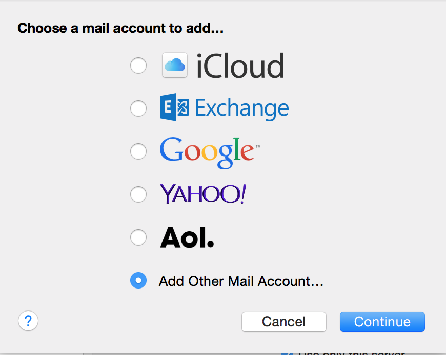 how to add university email to mac